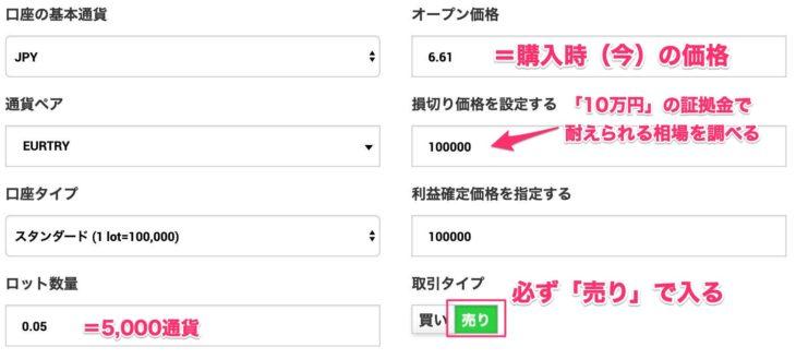利益損益10万円の幅