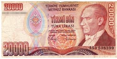 トルコリラ紙幣